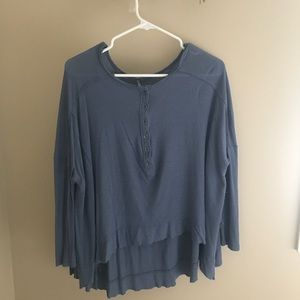 Free People Tops - Free People Benedict Canyon Henley Blue